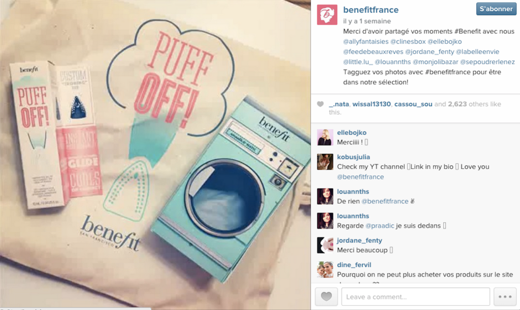 Benefit-France-Instagram