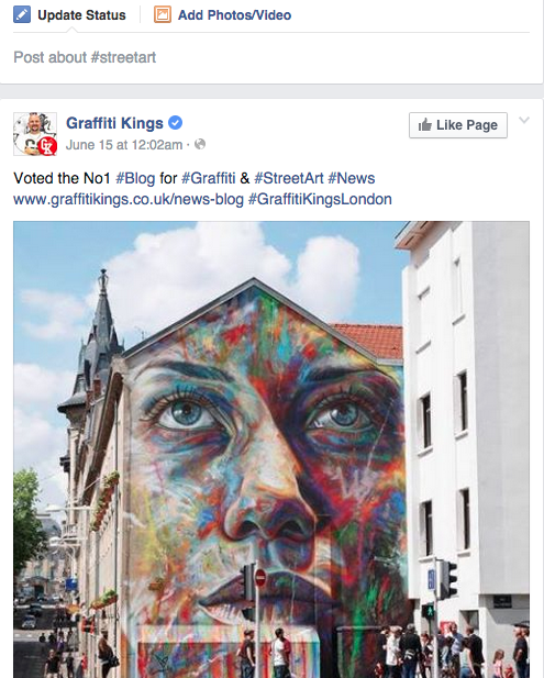 Brands Up Social Media Marketing Street Art Hashtag Facebook